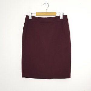 Laura Petites   Burgundy Red Straight Skirt Size 4